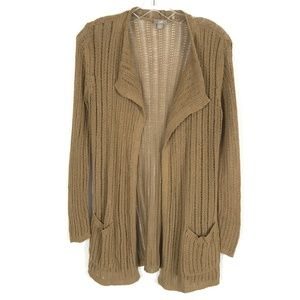 J. Jill knit open front cardigan with pockets